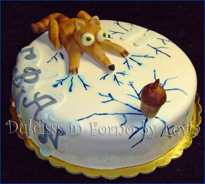 Torta Era glaciale con Scrat – Ice age Cake                                                                                                                                                                                 More