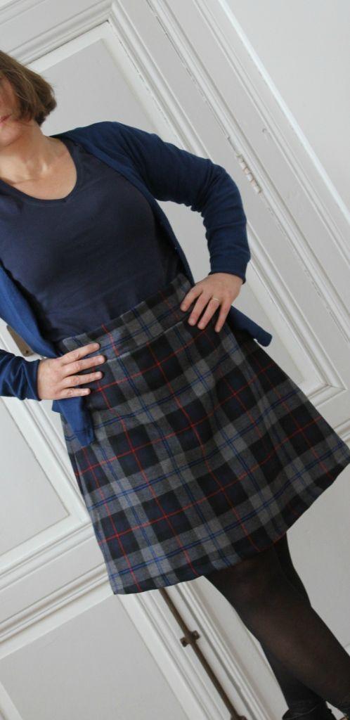 Sophie's Delphine skirt in tartan