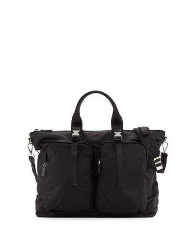 N4UZG Prada Tessuto Montagna Duffel Bag