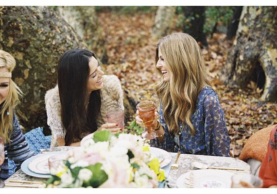 Boho bridal shower | photos by Braedon Flynn | 100 Layer Cake