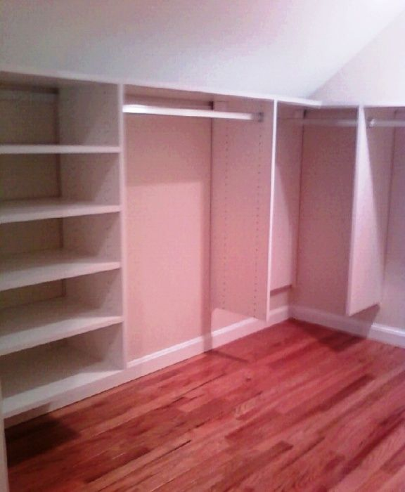Sloped Ceiling Wall Closet Sloped Ceiling Walk In Closet