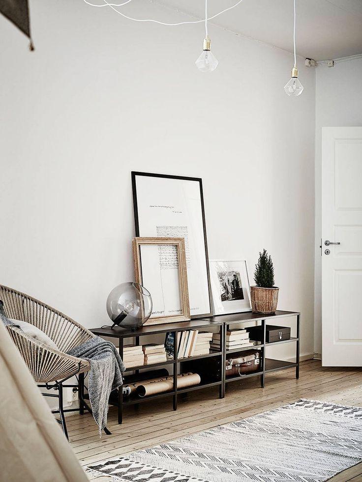 Low black shelves