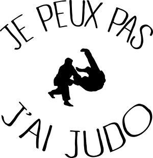 personnaliser tee shirt Je peux pas j ai Judo