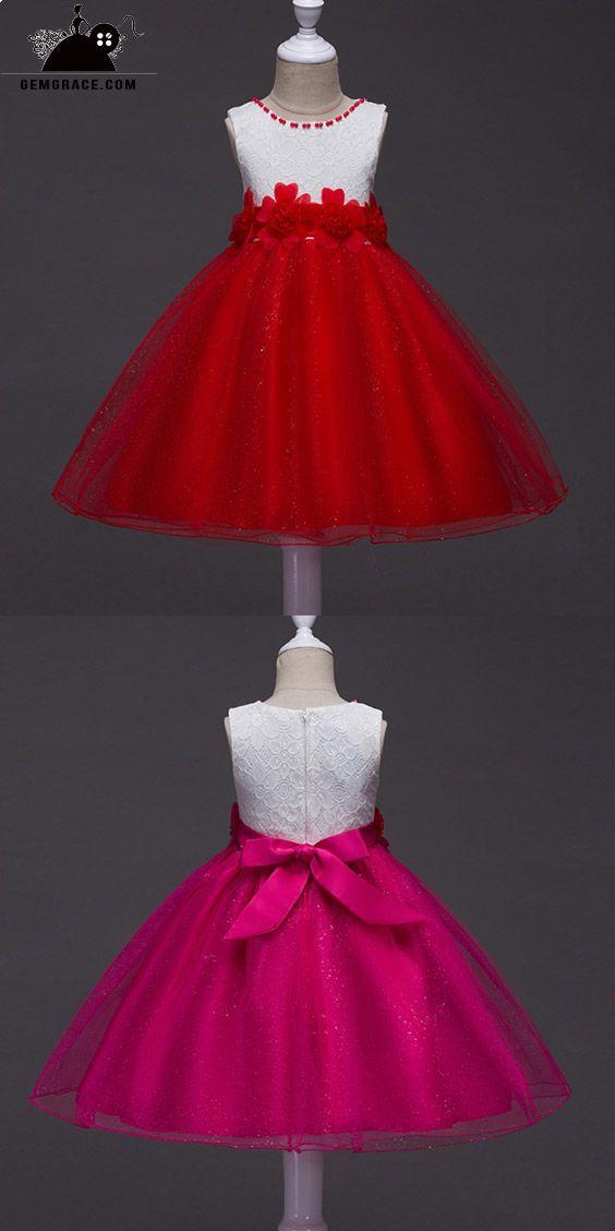 359 Cheap Flower Girl Dresses Sparkly Red And White Flower Girl