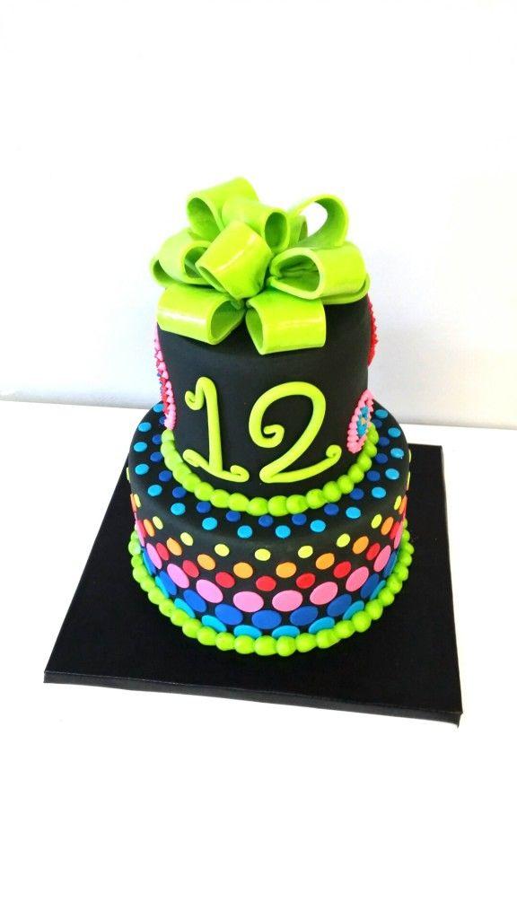 Neon cake
