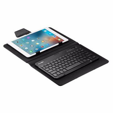 BlitzWolf® 3 Colors LED Backlight Bluetooth Keyboard PU Leather Case For 7-10 Inch Tablets iPad Samsung Tab Sale - Banggood.com