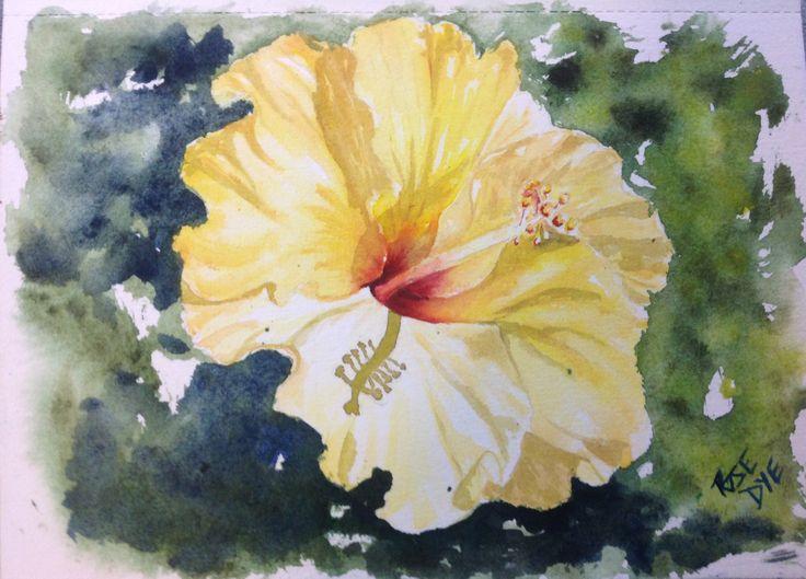 Hibiscus  Watercolour
