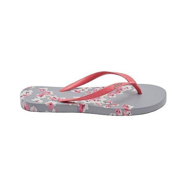 Joules Women's Cherry Blossom Flip Flop Sandals (1.320 RUB) ❤ liked on Polyvore featuring shoes, sandals, flip flops, grey, cherry blossom shoes, grey shoes, gray flip flops, grey flip flops and joules shoes