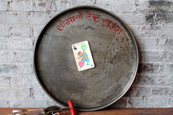 Small Metal Serving Platter Serving Tray Industrial Wall Magnet Board Vintage Indian Food Tray Metal Pan Wall art