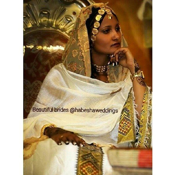 60 best images about cultural weddiing attire on pinterest for Habesha dress for wedding