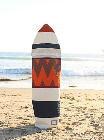 Patchwork Surfboard Bag | For soul surfers and their surfboards, this American made limited edition piece is the perfect gift to give, get, or keep! Durable canvas base with statement patchwork and toggle closure.   *By Purks & Co. Limited edition in collaboration with Free People