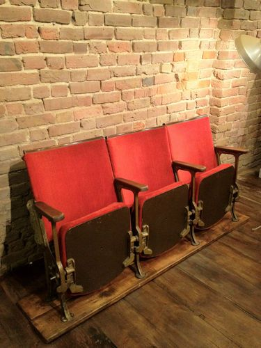 vintage cinema chairs theatre seats this just looks like a few boards that have been