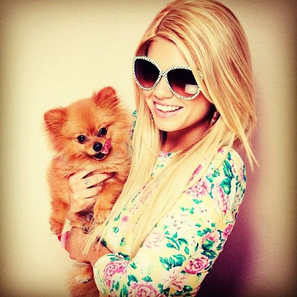 Channel West Coast/Chelsea Dudley. Shes so cute! Puppy too
