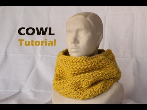 Quick & Easy Bulky Cowl Tutorial [Crochet] - YouTube