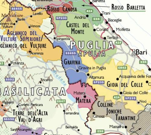 Italian wine regions maps