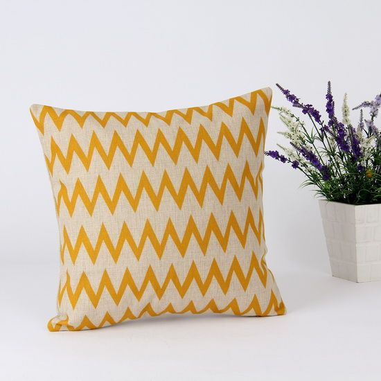 Cheap pillow case cover, Buy Quality case counter directly from China case powder Suppliers: 45*45 cm Home Decorative Ikea Retro Mustard Yellow Chevron Zig Zag Wave Sofa Linen Cotton Blend Throw Pillow Case Cushio