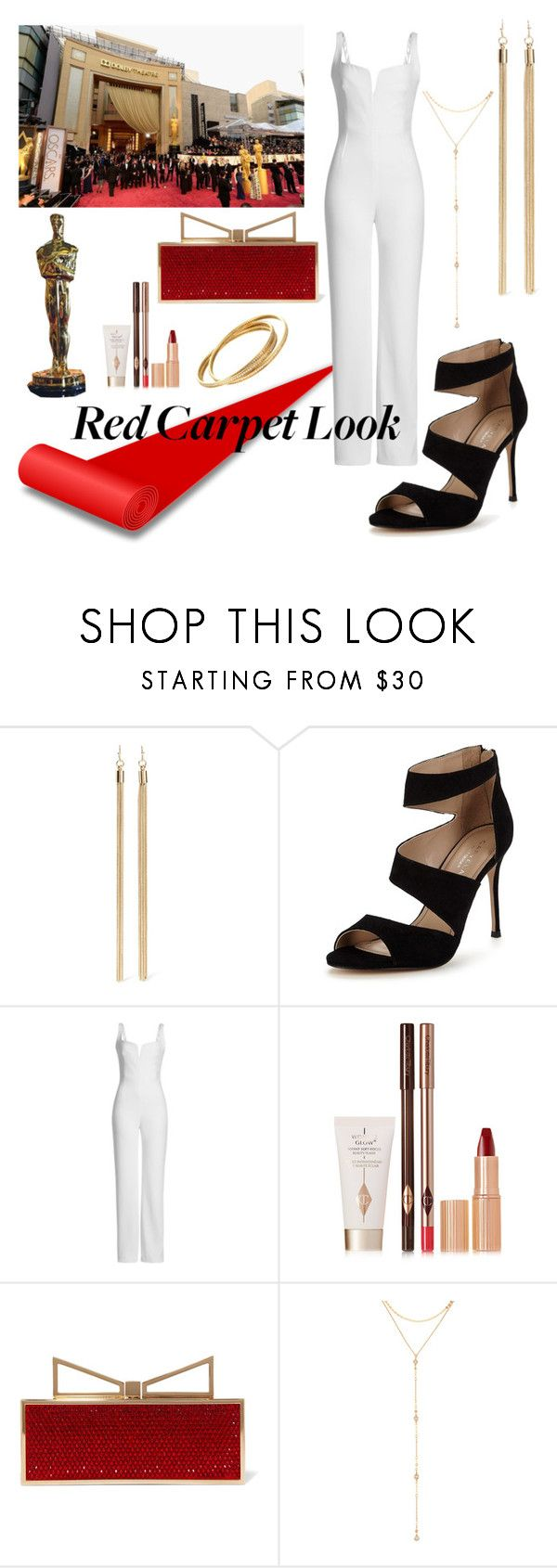 """Red Carpet Look"" by kawaiipotato0 ❤ liked on Polyvore featuring Kenneth Jay Lane, Carvela, Galvan, Charlotte Tilbury, Sara Battaglia, Fragments and Cartier"