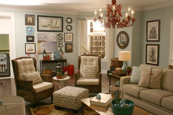 beach themed living room | the chandelier, beaches and living rooms