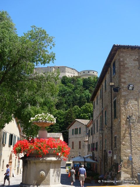 #Fortress of San Leo overlooking the town center, Emilia-Romagna #Italy via Traveling with Sweeney