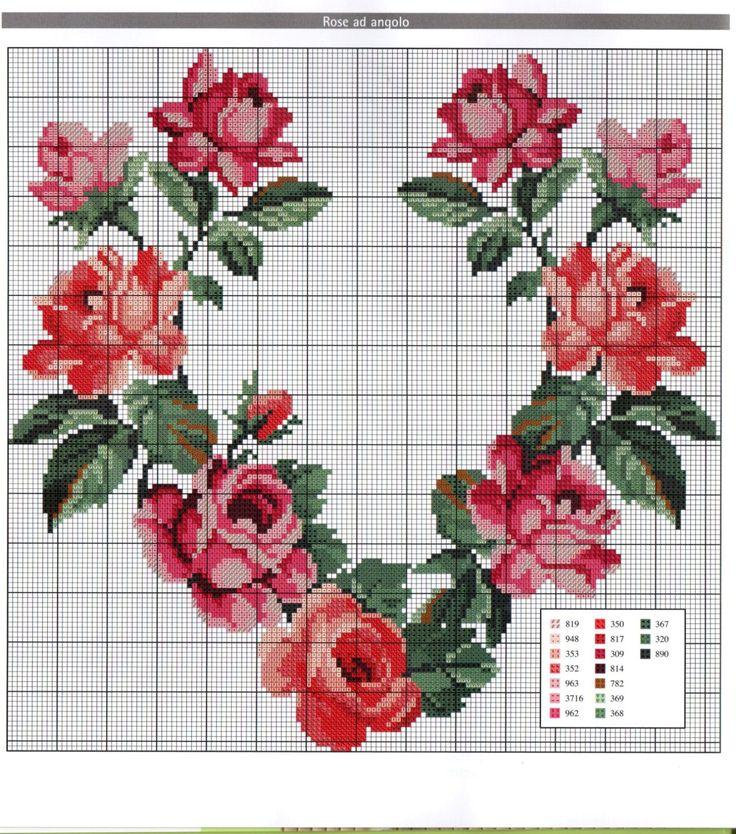 Floral Cross Stitch Pattern