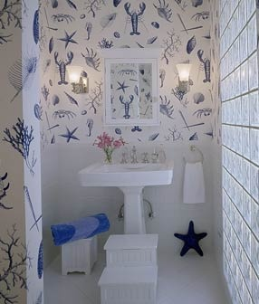 Bathroom Wallpaper. Save Learn More At Coastalliving.com