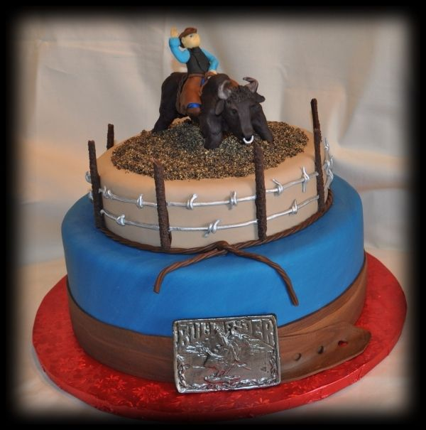 ok, so this is my next project... bullriding birthday cake for Raul
