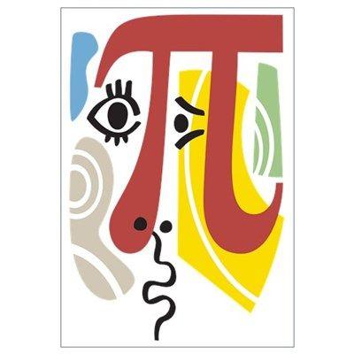 Pi Symbol Pi-casso Wall Art Poster