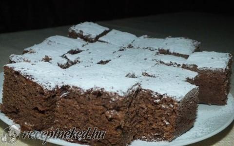 Lekváros-kakaós kavart süti recept fotóval