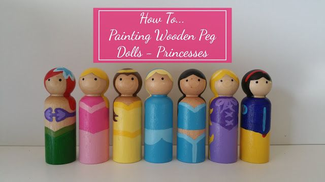 How To Paint Wooden Peg Dolls