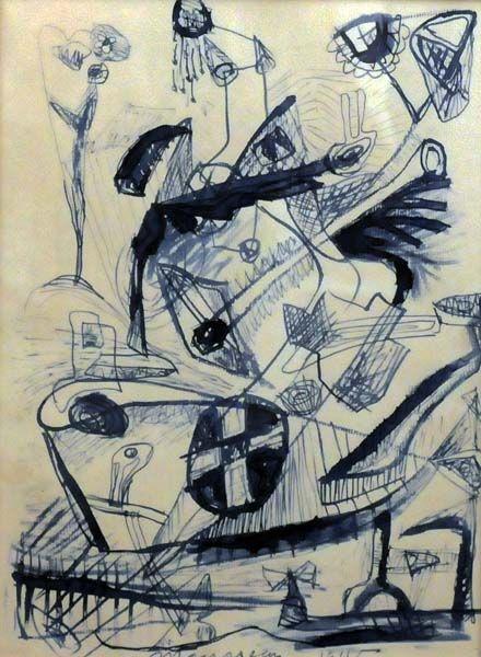 Jean-Paul MOUSSEAU - Sans titre (D83) 1945