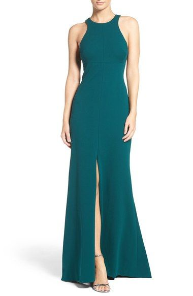 Vera Wang Stretch Woven Mermaid Gown available at #Nordstrom