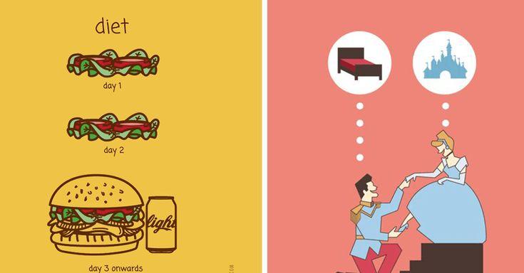 10 illustrations cyniques qui résument notre vie