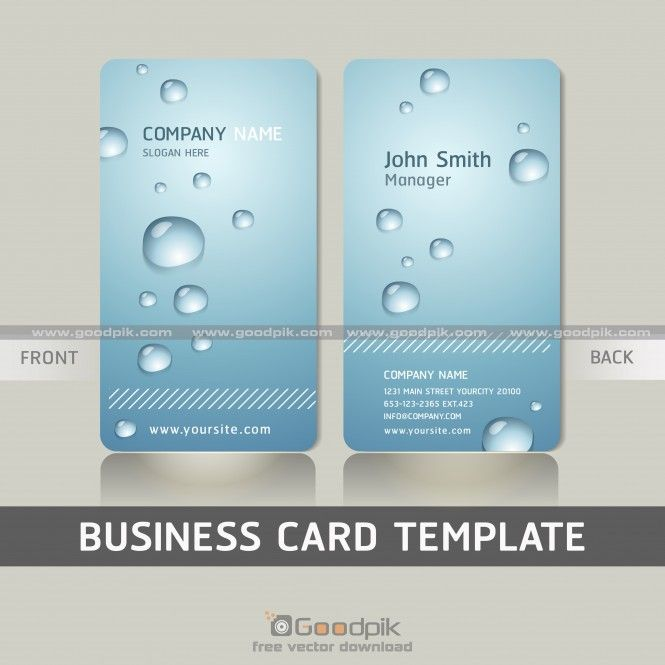 New Water Design Visiting Card Vector File Visiting Card Design Visiting Cards Water Design