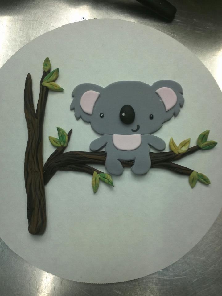 2d Koala Cake Topper Cake Topper Pinterest 2d