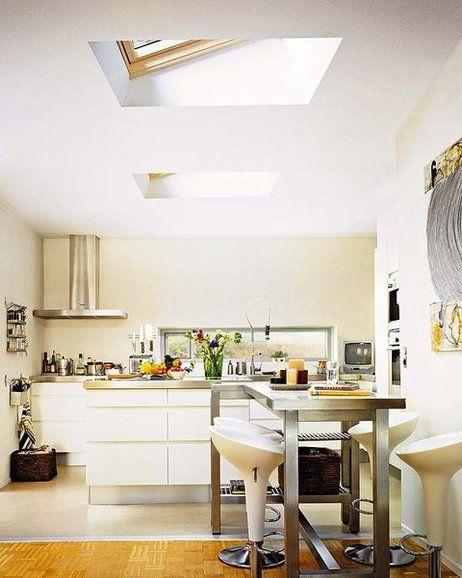 Nuevas ventanas de tejado para la cocina - Consejos para las instalaciones en la cocina - Mi Casa