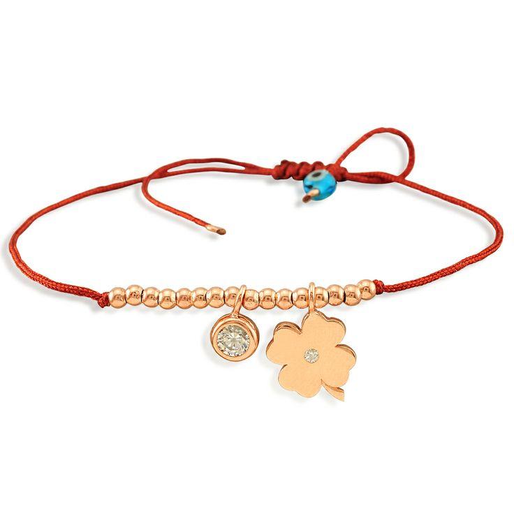 24K gold plated clover bracelet with Glint