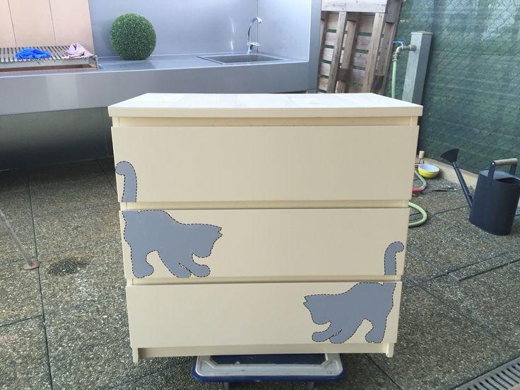 Vecchio mobiletto Ikea ...rinnovato