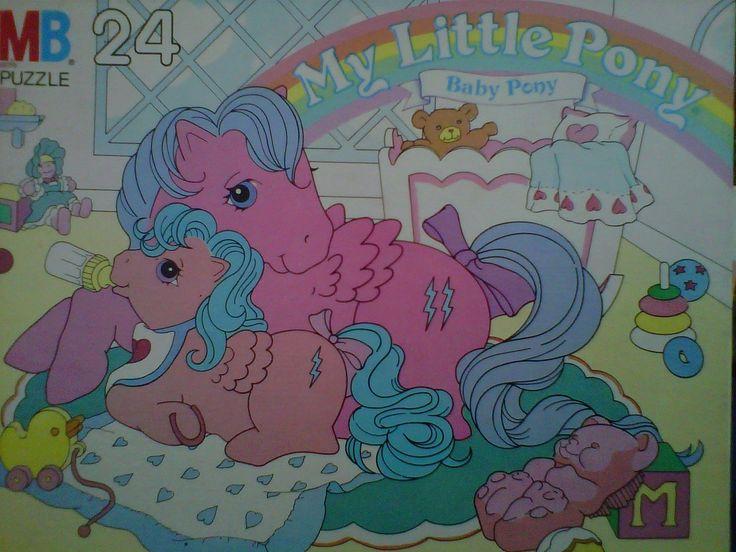 Vintage Milton Bradley My Little Pony Puzzle 24 Piece Baby