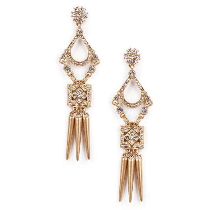 Sole Society Womens Crystal Drop Earrings Gold One Size From Sole Society nAEgEusW