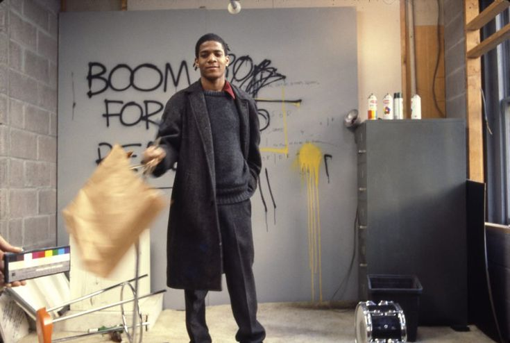 Edo Bertoglio, Jean-Michel Basquiat on the set of Downtown 81, 1980–81, © New York Beat Film LLC, By permission of The Estate of Jean-Michel Basquiat, Licensed by Artestar, New York, Photo: Edo Bertoglio.