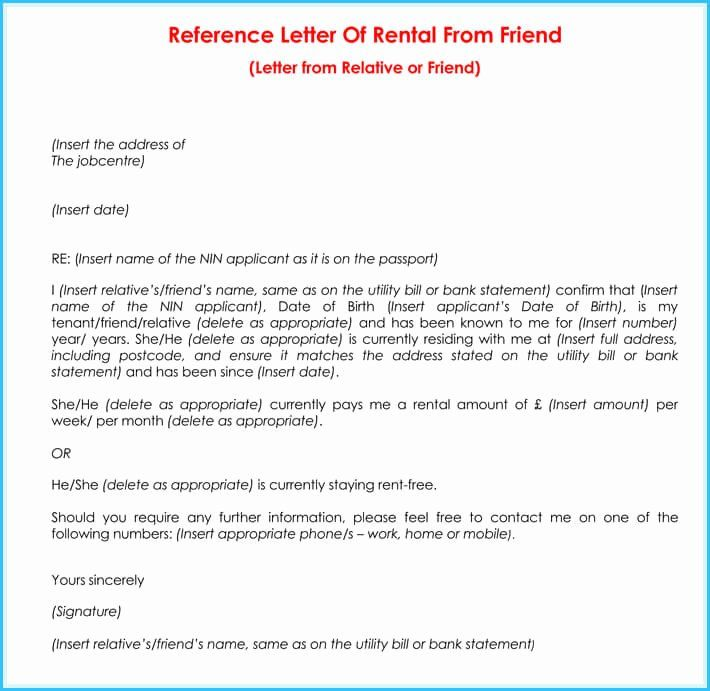 40 Rental Reference Letter Template In 2020 Reference Letter