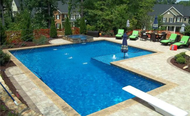 L Shaped Inground Swimming Pools L Shaped Fiberglass Swimming