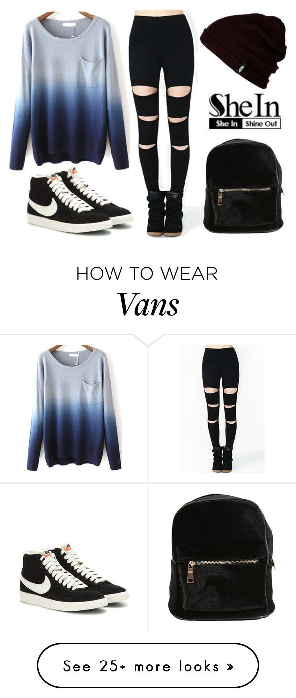 """shein"" by aifosfromvenus on Polyvore featuring Vans and NIKE"