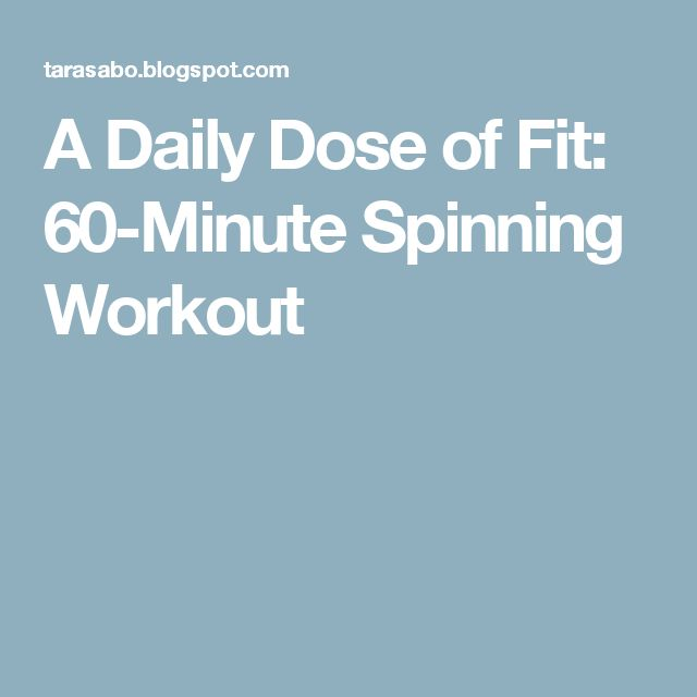 A Daily Dose of Fit: 60-Minute Spinning Workout