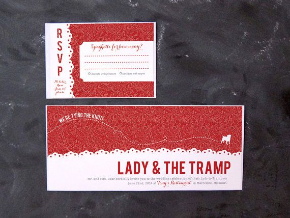 Dog Wedding Invitations: 17 Best Images About Lady And The Tramp Theme. :) On