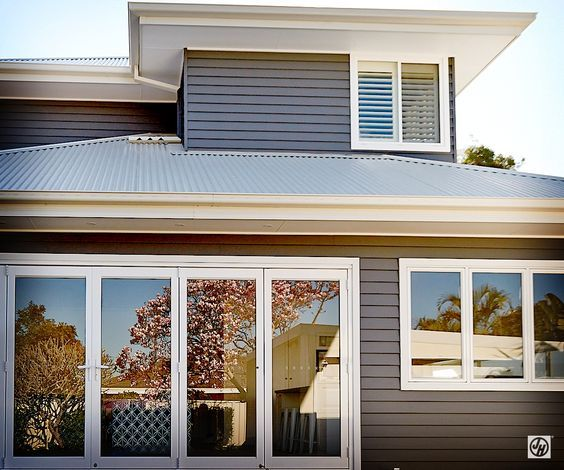Image result for plantation shutters upstairs from outside weatherboard