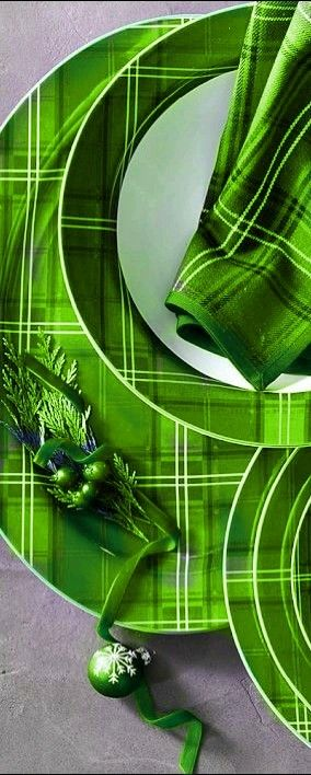 Green - Tartan Dinnerware - http://www.earthgear.com/shop-lifestyle/