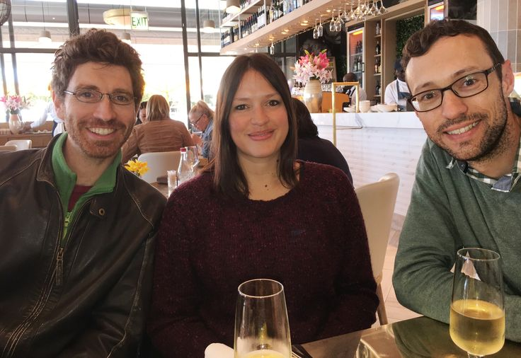 Simon, Lauri and Henk, celebrating Alyssa's birthday at Lily's in Mouille Point, Cape Town, 06/10/2017