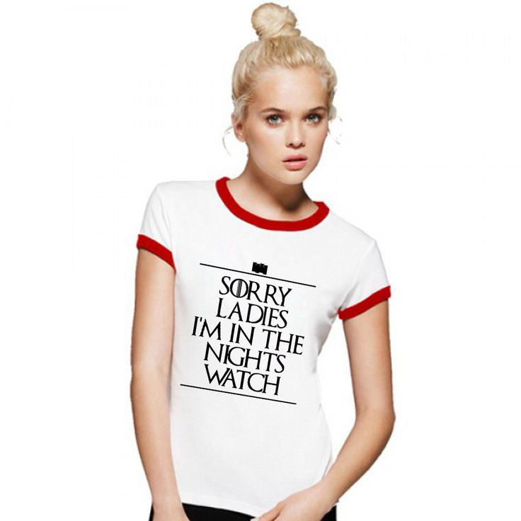 Free Shipping Women Night's Watch Tees Tshirts Short Sleeve Round Collar T Shirts Game Of Thrones Hip Hop Costume T-shirts  //Price: $US $10.00 & FREE Shipping //     #gameofthronesmarathon #gameofthronestour #jonsnow #starks #sansastark #gameofthronesaddict