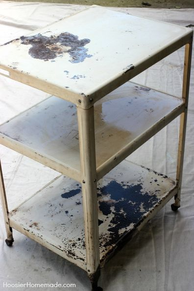 turn a 2 metal cart into a fun beverage cart, cleaning tips, decks, outdoor living, painting